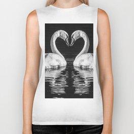 swans heart Biker Tank