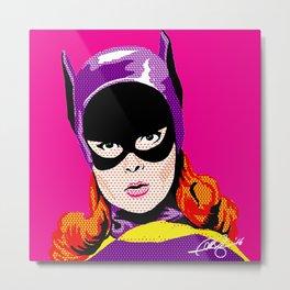 Pop Batgirl Metal Print