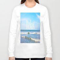 relax Long Sleeve T-shirts featuring Relax by JuniqueStudio