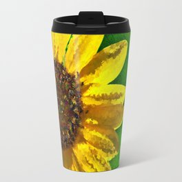 Sunflower Art Travel Mug