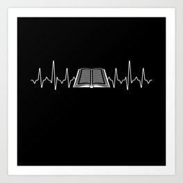Book Heartbeat Art Print