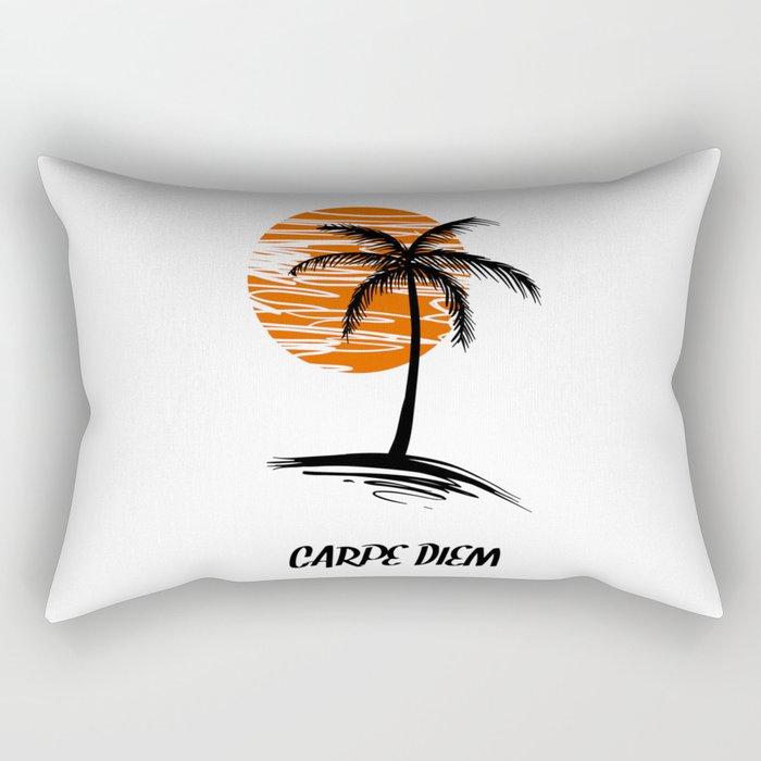 Carpe Diem Seize The Day Inspirational T-Shirt Rectangular Pillow