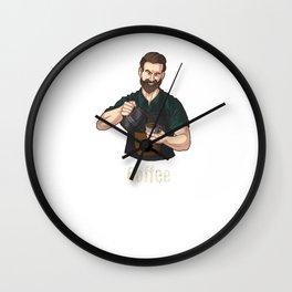 Bearded Barista Coffee Lover Espresso Fan Fans Junkie T-Shirt Wall Clock