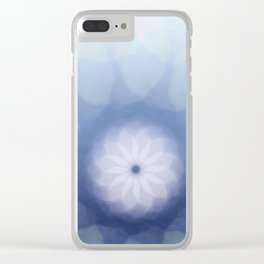 Snow White Dahlia Clear iPhone Case
