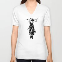 indian V-neck T-shirts featuring Indian by ARTito