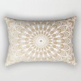 Gold Mandala 19 Rectangular Pillow