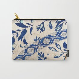 Blue Oriental Vintage Tile 04 Carry-All Pouch