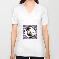 johnlock V-neck T-shirts featuring Happiness Is A Cool Detective by Marlowinc