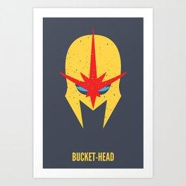 Nova - Bucket-Head Art Print