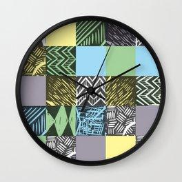 Colour block pastel Wall Clock