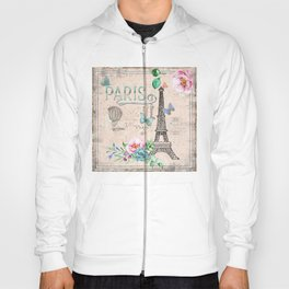 Paris - my love - France Nostalgy- pink French Vintage Hoody