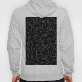 Circular B&W inverted / Lineart texture of circles Hoody