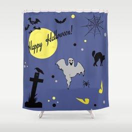 Halloween symbols Shower Curtain