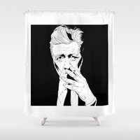 lynch Shower Curtains featuring David Lynch by Olivier Carignan