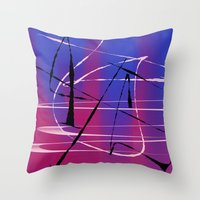 tangled Throw Pillows featuring Tangled by Ordiraptus