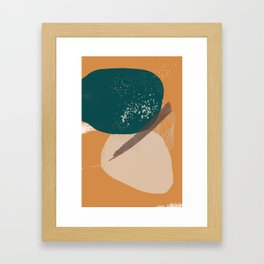 Rooted 7 Mid-Century Monoprint Framed Art Print