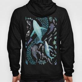 Sharks, Humpback Whales, Orcas & Turtles Ocean Play Print Hoody