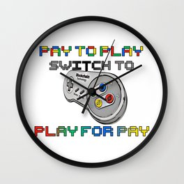 play for pay! Wall Clock
