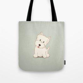 Westie Dog Illustration Tote Bag