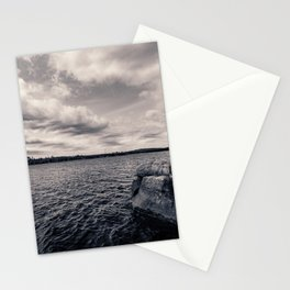 Black and White Boundary Waters Lake Stationery Cards