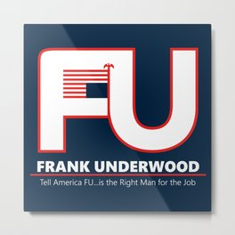 Full FU Logo Metal Print
