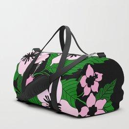 pink flowers Duffle Bag