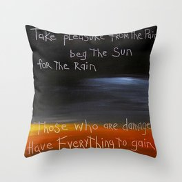 those who are damaged Throw Pillow
