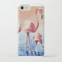 flamingos iPhone & iPod Cases featuring FLAMINGOS by ArtSchool