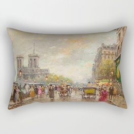 Notre Dame Cathedral, Paris, France by Antone Blanchard Rectangular Pillow