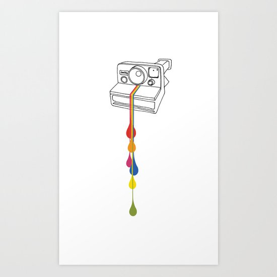 Polaroid Drips Art Print