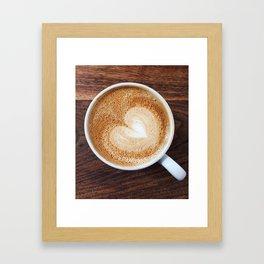 Heart of Coffee Framed Art Print