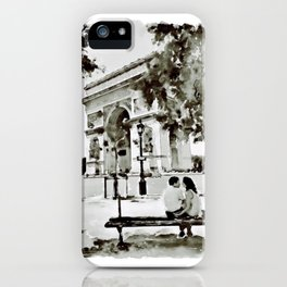 The Arc de Triomphe Paris Black and White iPhone Case