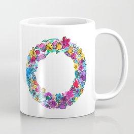 O Letter Floral Coffee Mug