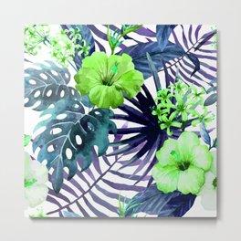 Tropical Floral Watercolor Var. 8  Metal Print