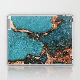 AQUA & GOLD GEMSTONE Laptop & iPad Skin