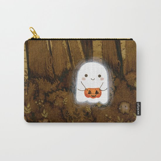 Little ghost and pumpkin by laures