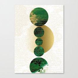 Green Balanced Galaxy Canvas Print