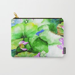 Water colour Lotuses Carry-All Pouch