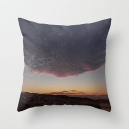 Flying face Throw Pillow