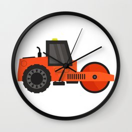 road roller Wall Clock