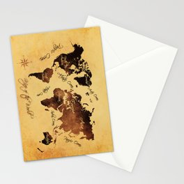 world map 75 Stationery Cards