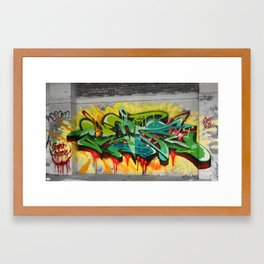 As One graf piece  Framed Art Print