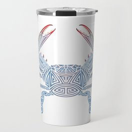 Tribal Blue Crab Travel Mug