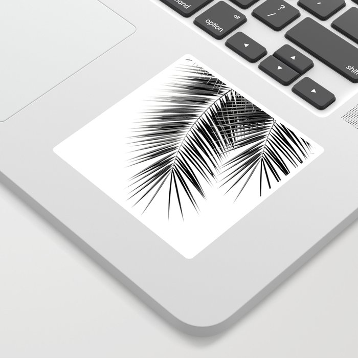 Black Palm Leaves Dream - Cali Summer Vibes #2 #tropical #decor #art #society6 Sticker