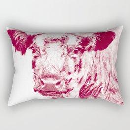 Ardnamurchan Coo - Red Rectangular Pillow
