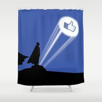 gotham Shower Curtains featuring Gotham Like by Tony Vazquez