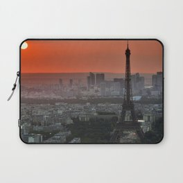 The Eiffel Tower in Paris Sunset Laptop Sleeve