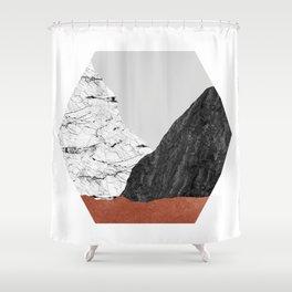 Copper Geometric I Shower Curtain