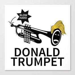 Donald Trump Trumpet Canvas Print