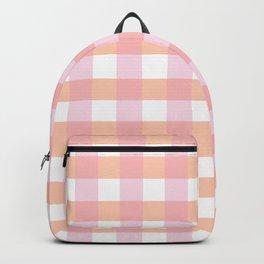 Blush Pink Plaid Backpack